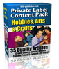 PLR Articles Hobbies-Crafts-Arts