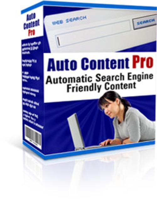 Product picture Auto content Pro (MRR)