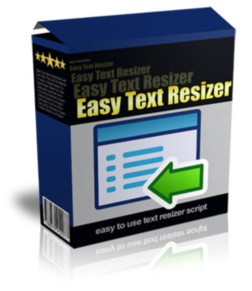 Product picture Easy Text Resizer (MRR)