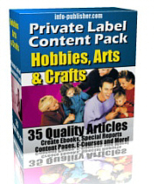 Product picture PLR Articles Hobbies-Crafts-Arts