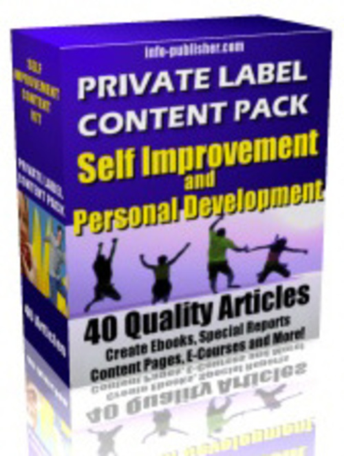 Product picture PRIVATE LABEL CONTENT SELF IMPROVEMENT & PERSONAL DEVELOPMEN