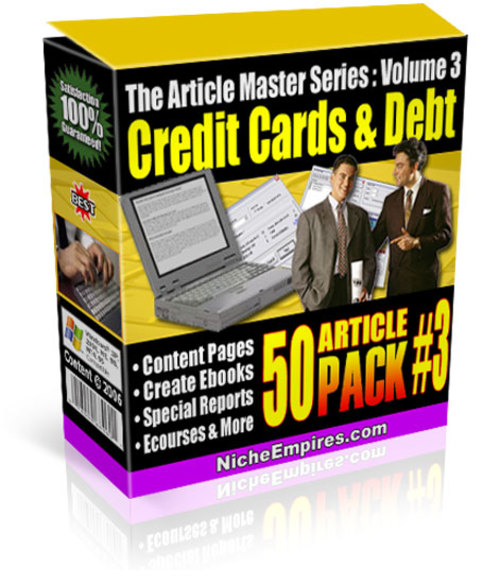 Product picture PLR Articles Credit Cards & Debt