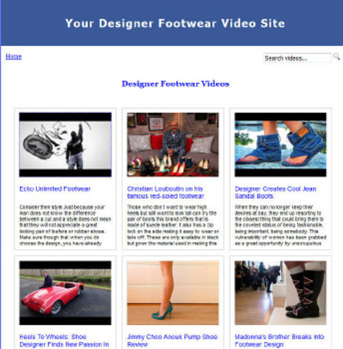 Product picture Build Designer Footwear Video Site (MRR)