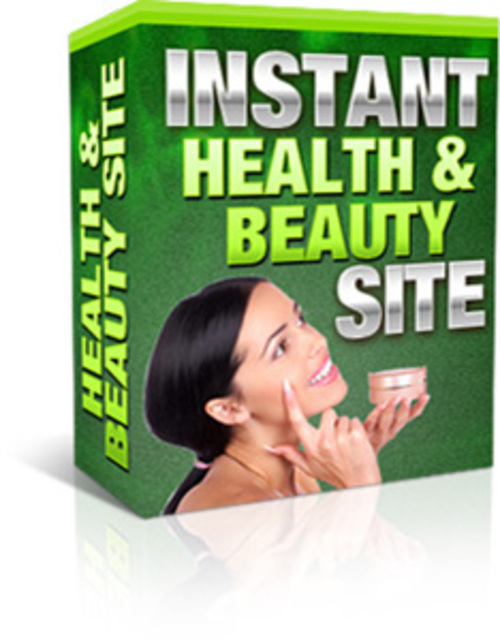 Product picture Mini Site Instant Health And Beauty (MRR)